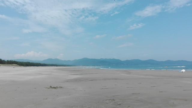 高知県黒潮町にある入野ビーチ 誰もいない